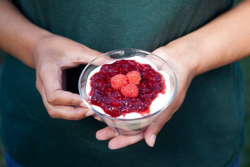 Na Cozinha – Cheesecake Falso de Framboesa Rápido