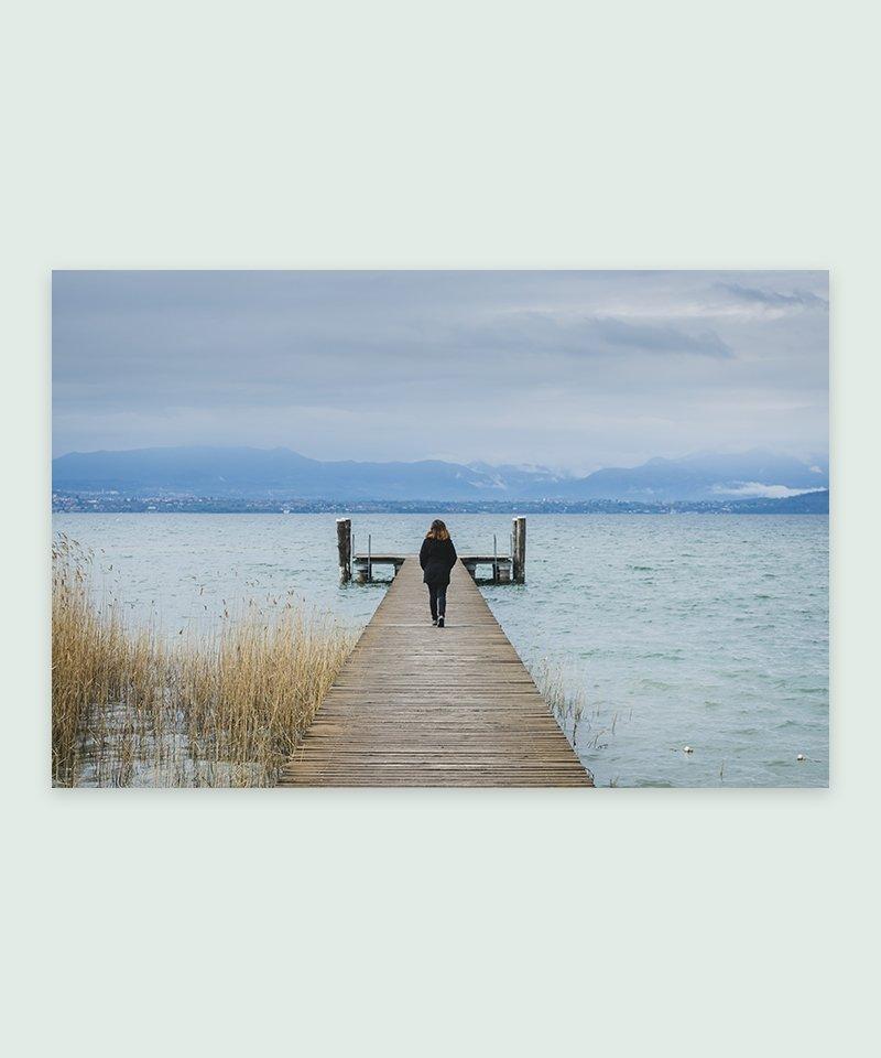 Lago di Garda - Itália | Foto Impressa - Meio Cheio